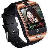 SmartWatch SmartWatch Fitness armband horloge met SIM Card Slot-camera met aanraakscherm stappenteller muziek controle,Black
