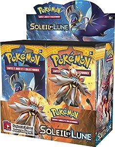 Asmodee-posl102disco-Booster Pokémon Sol y Luna 1-Expositor