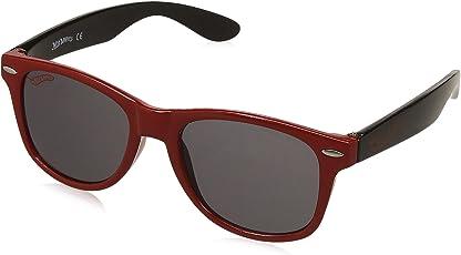Hotwheels UV Protected Wayfarer Boy's Sunglasses - (HOTO-1022-104/160_Red|47|Grey Color Lens)