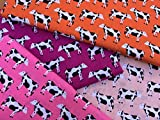 Farm Animal Kuh Prints 4 Stück Fat Quarter Bündel 100%