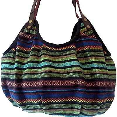 Bolsa Slouch del bolso del cobarde damas estilo étnico tailandés Hobo hombro para mujer NUEVO **