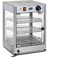 Royal Catering Vitrine Chauffante RCHT-850 (850 W, Température de chauffe 0-85°C, Dimensions du présentoir 29 x 30 x 3…