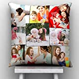GiftsOnn 9 Photos Personalized Black Color Cushion/Pillow(12 * 12pillow80, Black)