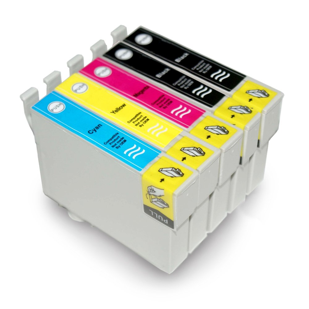 Kit 5 Cartucce Vultech per Epson T1281-T1282-T1283-T1285