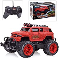 Popsugar Cross Country Monster 1: 20 R/C Truck - Included Battery, Red