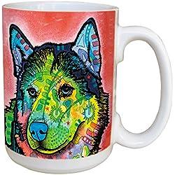 """Árbol de-free Tarjeta de felicitación de 46215 15 oz Dean Russo """"gran perro"""" full-tamaño taza de cerámica con mango"""