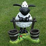Dekofigur Schaf Molly am Zaun,zum Bepflanzen,Tierfigur,Deko,Garten,Terrasse