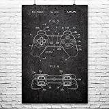 Original Playstation PS1 Controller Poster Kunstdruck Playstation Controller Sony Playstation Geschenk 24' x 36' Dark Concrete