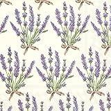 Ideal Home Serie 20-count 3-lagig Servietten, Bouquet von Lavendel, Papier, multicolor
