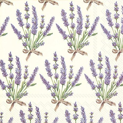 Ideal Home Serie 20-count 3-lagig Servietten, Bouquet von Lavendel, Papier, multicolor Bouquet Serviette