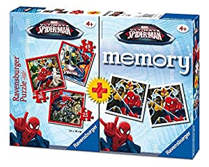 Ultimate Spider-Man- Spiderman Pack Memory y Puzzle, 37.1 x 27.9 x 6.1 (Ravensburger 07359 7)