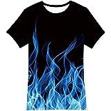 TUONROAD Ragazzo Ragazze T Shirt 3D Manica Corta Maglietta Tee T-Shirt per Bambini 6-14 Anni