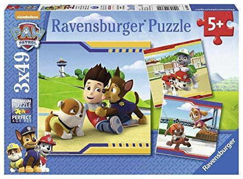 PAW PATROL - Puzzle, 3 x 49 Piezas (Ravensburger 9369)
