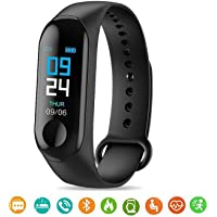 MARVIK MI-X9 M3 Smart Band for Men Women Fitness Tracker for Sports/Gym Lovers with Heart Rate Monitor Activity Tracker, Steps/Calorie Counter Digital Led Bluetooth Wrist Watch for Kids Boys/Girls