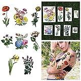 Tattify Tatouages Temporaires Brillant Color_ Fleur - Le Jardin Secret (Set de 16)