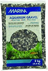 Marina Decorative Aquarium Gravel, 2 kg (Gray Tones)
