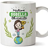 Mugffins Sorella Tazza/Mug - Migliore Sorella del Mondo - Idea Regalo Originale di Compleanno - Tazza Migliore Sorella in Cer