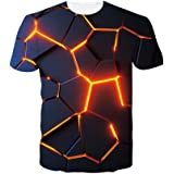 ALISISTER Unisex 3D Funny Printed T-Shirt Mens Summer Graphic Short Sleeve Tee Shirts Tops