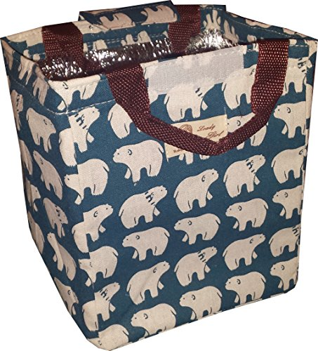 polar-bear-design-lunch-bag-waterproof-insulated-cooler-lunch-box-bag-tote-canvas-lunch-bag-insulati