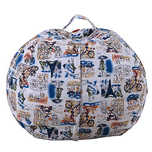 TOYLT Sitzsack Kinder Stofftier Kuscheltiere Aufbewahrung Aufbewahrungstasche Soft Pouch Stoff Stuhl, Spielzeug Aufbewahrungstaschen mit Reißverschluss,26inch