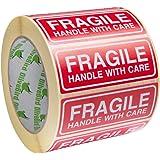250 Fragiele Stickers Behandel met zorg Stickers Grootte 90x35mm