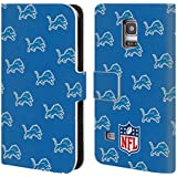 Official NFL Patterns 2017/18 Detroit Lions Leather Book Wallet Case Cover For Samsung Galaxy S5 mini