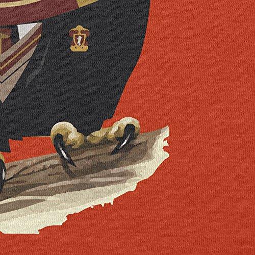 TEXLAB - Harry Owl - Herren T-Shirt Orange