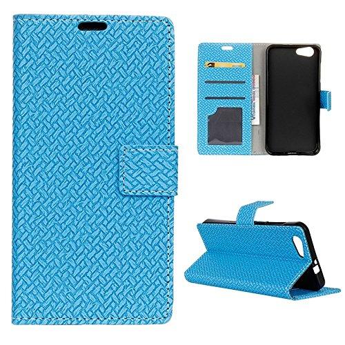 Moonmini Funda ZTE Blade A506 reg; Azul PU Leather Cuero Magnético Flip Bookstyle...