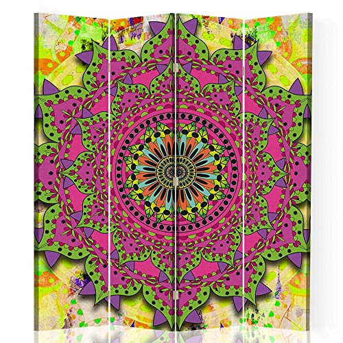 F FEEBY WALL DECOR Biombo Decorativo Mandala 4 Paneles 360° India SPA