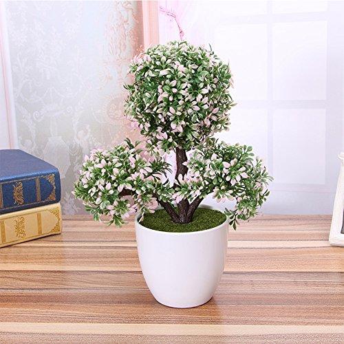 Grün Rustikalen Esstisch (Zantec Topfpflanzen, Künstliche Kunststoff Trigeminal Blume Topfpflanzen Bonsai Gefälschte Pflanzen als Dekorationen)