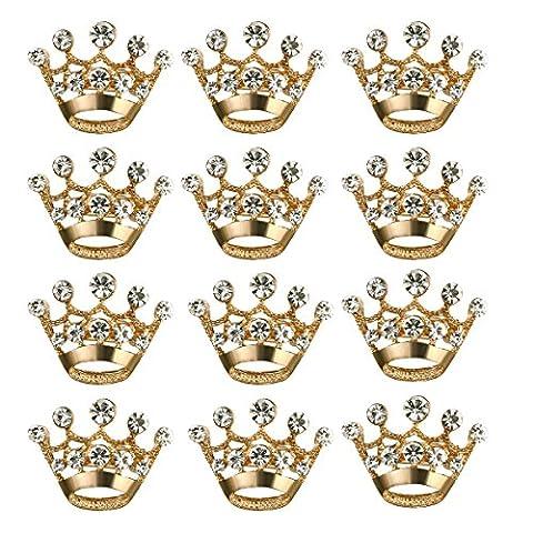 LUOEM Krone Brosche Pin Kristall Broschen Schals Wölbung Kragen Pin Corsage Bouquet Kit Hochzeitsfeier Brosche Pin 12PCS