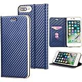 iPhone 7 Plus iPhone 8 Plus Flip Coque,Étui en Cuir à Rabat Portefeuille Wallet...