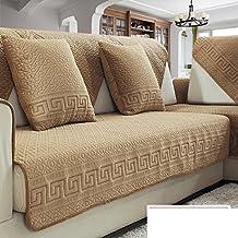 Cojines de sofá,tejido simple invierno moderno europeo four seasons antideslizante combinación de cuero sofá cubierta-A 110x235cm(43x93inch)