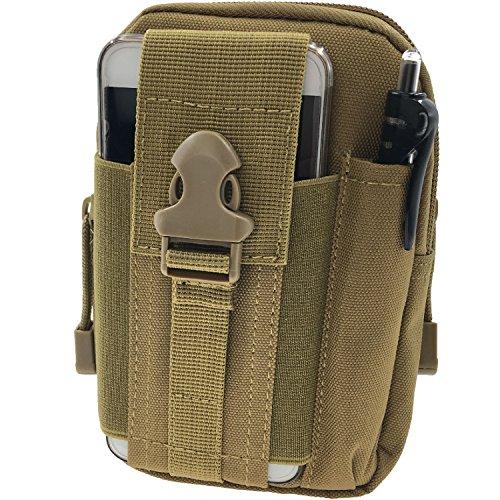 Borsa Marsupio Cintura Tattico MOLLE EDC Pouch Multifunzione - Tyidalin Tattico Sacchetto Militare di Nylon Oxford Impermeabile Bag Per Gadget Hiking Trekking Campeggio Pesca Viaggio Outdoor