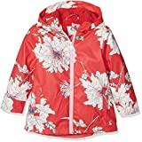 Joules Girl's Raindance Coat, Red (Red Peony Floral), 6 Years