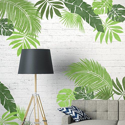 von 6 Möbel Wand Fußboden Schablones für Malerei - Möbel Groß (Blatt-wand-kunst)
