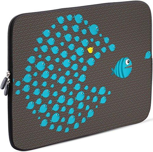 Sidorenko Tablet PC Tasche für 10-10.1 Zoll | Universal Tablet Schutzhülle | Hülle Sleeve Case Etui aus Neopren, Grau/Blau