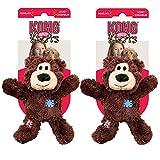 Kong Wild Knots Spielzeug-Bär, mittelgroß, 2 Stück