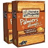 MICHEL ET AUGUSTIN - Biscuits Palmiers Allongés Sucre Caramélisé - Palmiers Allongés au Sucre Caramélisé - 120g Lot de 2