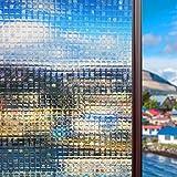 -16026- 45x200 ASJ-001 Selbstklebend ohne Klebstoff Fensterfolie 3D Statisch Folie Sichtschutzfolie