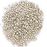Micro Anneaux 5mm Micro Rings en Silicone & Aluminium - Fixation pour Extension Cheveux Naturel a Froid I-tip Plume - 500 PCS - Blond