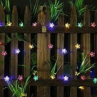 lilily _ store guirnalda Solar exterior – Solar Garden Lights con flores de 50 luces LED