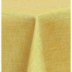 Maltex24 - Mantel Textil (Aspecto de Lino, Impermeable, Cuadrado, 110 x 140 cm), Amarillo, ca. 110 x 140 cm