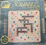 Scrabble Deluxe 1977 Edition Plastic rot...