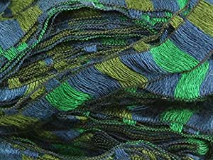 Katia rízos écharpe fil à tricoter Mélange bleu/vert/97–100g Boule