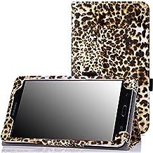 MoKo–Funda fina y plegable para Tablet Samsung Galaxy Note Pro 12.2, Tab 3Lite 7, Tab 47.0, Tab 48.0, Tab 410.1, Tab Pro 8.4, Tab Pro 10.1 marrón leopardo para Galaxy Tab 4 7.0