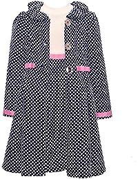 BONNIE JEAN Mädchen 2tlg. SET Kleid & Mantel, Kinder Outfit, W31360-CL, navy