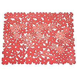 InterDesign Blumz Large Sink Mat, Red