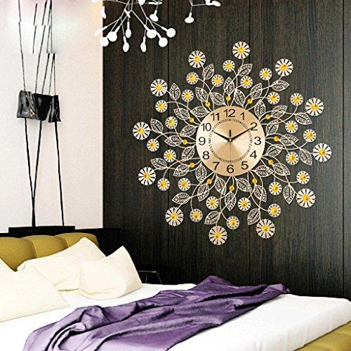 sjmm 60 * 60 cm moderne Fer à Repasser Horloge murale Sun Salon Chambre à coucher créative créatifs Décoration