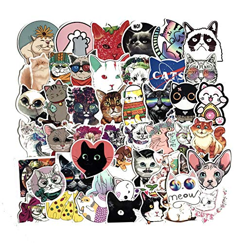 DADATU Aufkleber 50pcs/Lot Cartoon Lovely Cats Sticker Für Snowboard Laptop-bägetier Car Fridge DIY Styling Vinyl Home Decor Pegatina